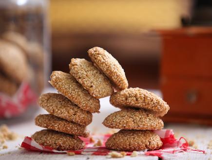 עוגיות שומשום (צילום: בני גם זו לטובה, אוכל טוב)