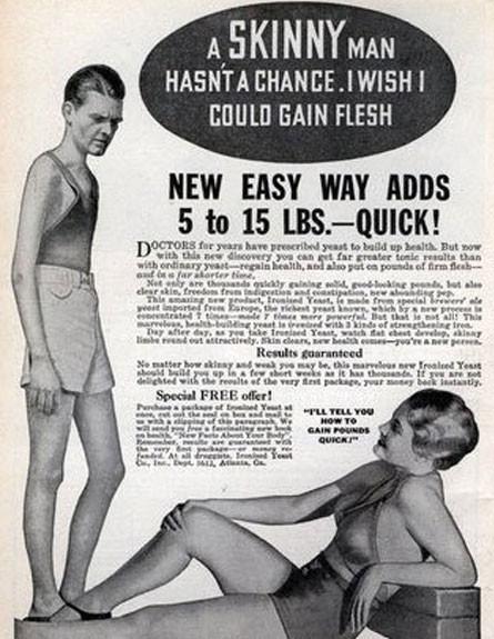 פרסומת המעודדת העלאת משקל