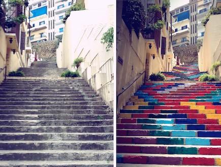 מדרגות לצד מדרגות (צילום: Dihzahyners-Project)