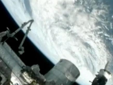 צפו בווידאו מהחלל (צילום: YOUTUBE)