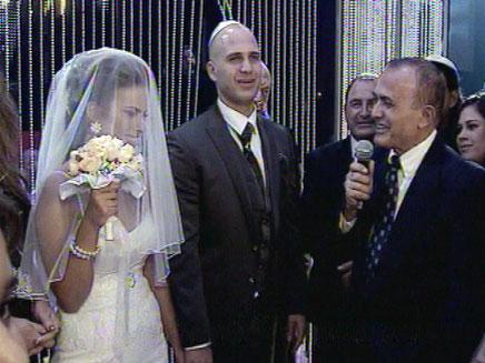 פרנקו ופרופ' אשכנזי בחתונה (צילום: חדשות 2)