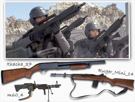 גברים בחלל נשק