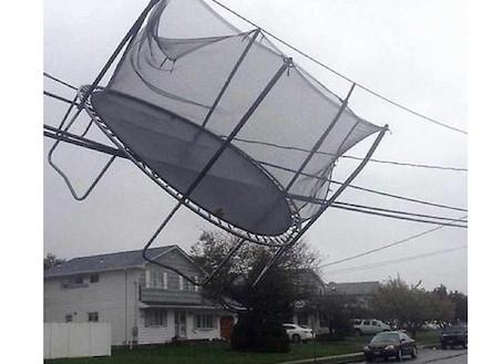 טרמפולינה עפה ברוח, הוריקן סנדי