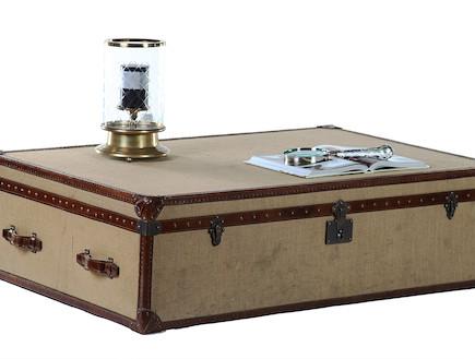 שולחן סלוני מזוודה (צילום: אבי ולדמן)