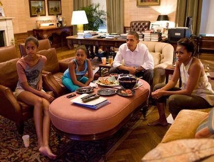 הסלון הפרטי של משפחת אובמה