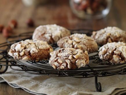 עוגיות נוטלה ואגוזי לוז - רוחב (צילום: חן שוקרון, אוכל טוב)