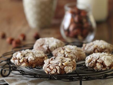 עוגיות נוטלה ואגוזי לוז - אורך (צילום: חן שוקרון, אוכל טוב)