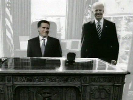 רומני וביידן יחד? (צילום: חדשות 2)