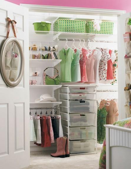 ארון ירוק (צילום: מתוך האתר the container store.com)