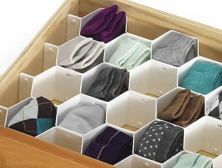 אחסון גרבי חורף עבות (צילום: www.home-organize.co.il)