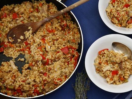 ריזוטו שלושה דגנים עם פרגית (צילום: אפיק גבאי, אוכל טוב)
