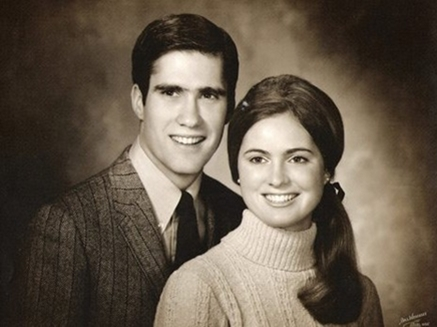 הזוג הצעיר: מיט ואן רומני (צילום: רויטרס)