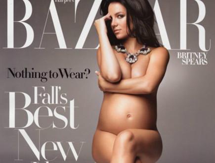 בריטני ספירס מצטלמת בעירום בהריון (צילום: צילום מאתר wonderwall)
