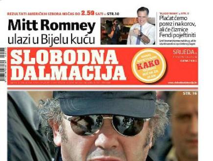 שער עיתון ה-Slobodna dalmacija (צילום: mako)
