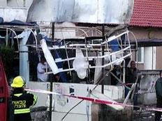 המבנה שנפגע, הבוקר (צילום: חדשות 2)