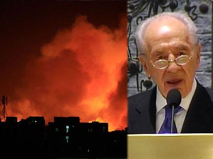 נשיא המדינה פרס והפיצוץ בסודן (צילום: רויטרס, חדשות 2)