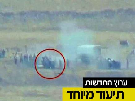 """פגיעת טיל צה""""ל בגבול הסורי (צילום: חדשות 2)"""