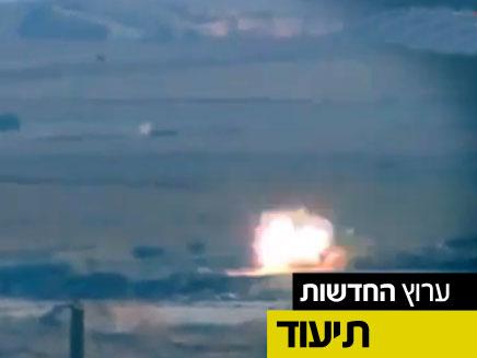 תיעוד שיגור הטיל (צילום: חדשות 2)