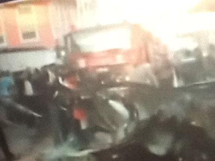 מכוניתו המפויחת של ג'עברי (צילום: חדשות 2)