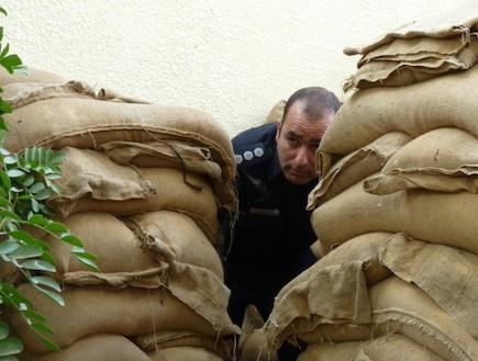 עמוד ענן: שוטרי משטרת באר שבע (צילום:  שמעון איפרגן)