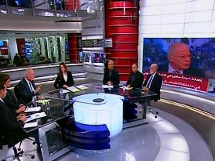 דיון מפתיע באולפן חדשות 2 (צילום: חדשות 2)