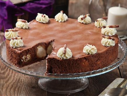 עוגת מוס שוקולד ממולאת פחזניות