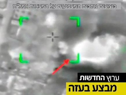 """תקיפת ביתו של פעיל טרור בעזה (צילום: דו""""צ)"""