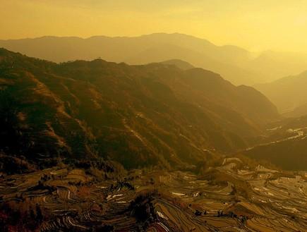 טרסות אורז בין ההרים
