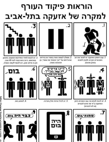 הוראות לאזעקה בתל אביב