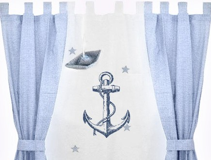 וילון כחול (צילום: מתוך האתר -www.boten.co.il)