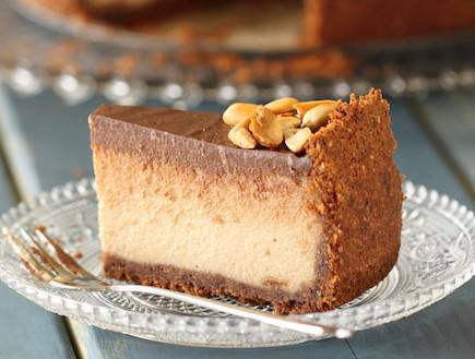 עוגת גבינה וחמאת בוטנים - רוחב