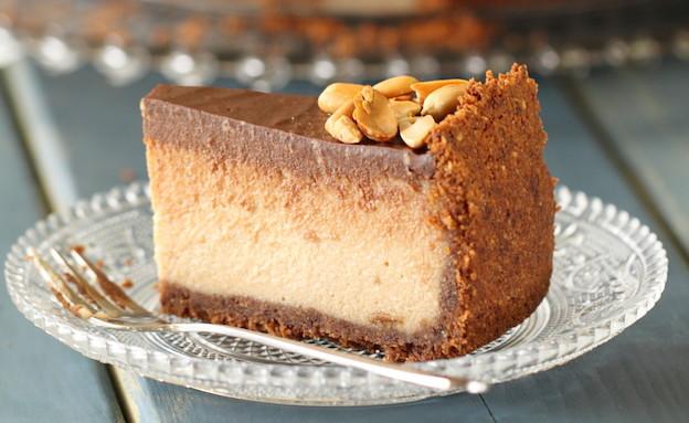עוגת גבינה וחמאת בוטנים - רוחב (צילום: חן שוקרון, אוכל טוב)