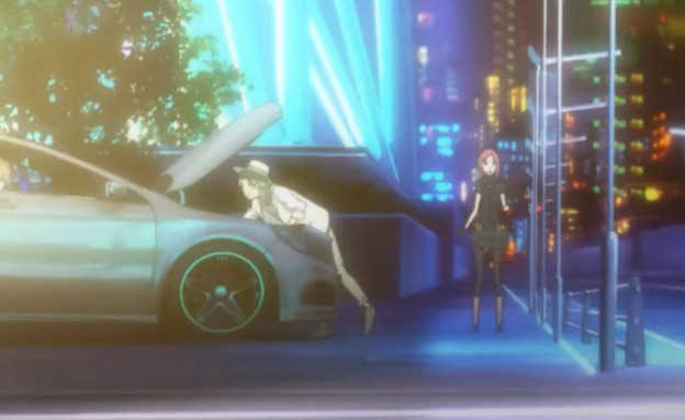 Mercedes anime commercial