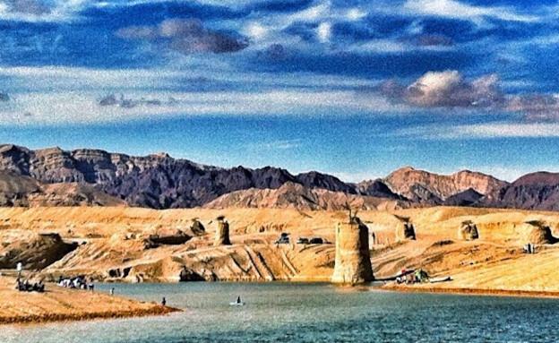 האגם החדש שנוצר באילת