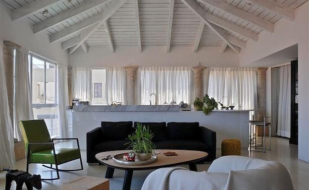 דירה יפואית עיצוב דפנה קסטיאל (צילום: שי אדם)