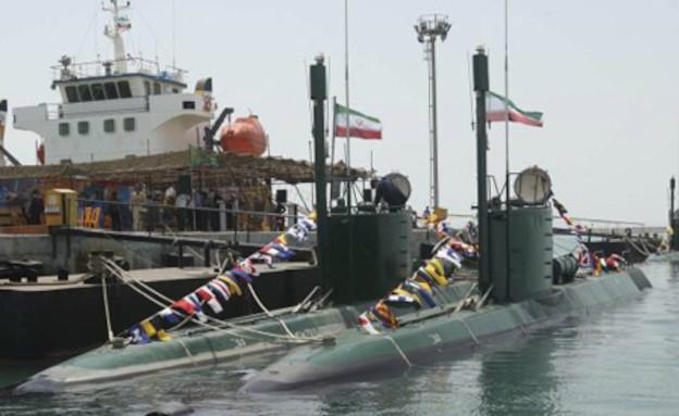 צוללת איראנית (צילום: VAHID REZA ALAEI\AFP, Getty Images)