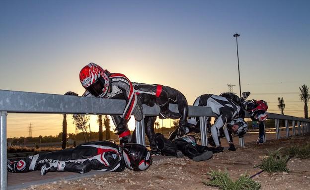 מחאת רוכבים נגד גדרות הבטיחות (צילום: מאיר פינטו )