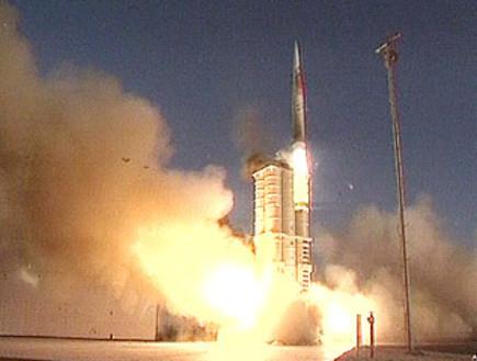 """צה""""ל ערך ניסוי מוצלח בטיל המדמה """"שיהאב 3""""36281 (תמונת AVI: וידאו אין צלם, המהדורה המרכזית)"""