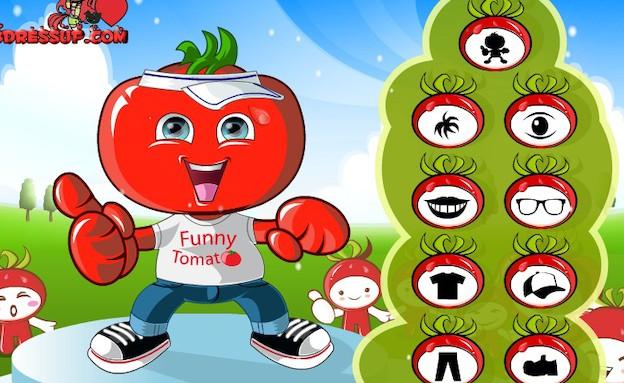 משחק הלבשה עגבניה
