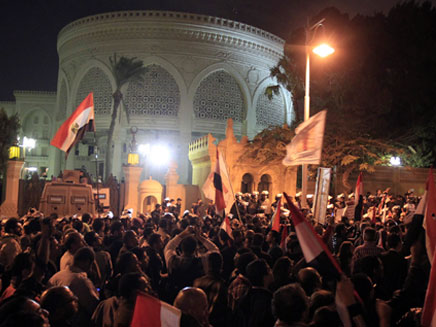 הפגנות מסביב לארמון הנשיאות, בשבוע שעבר (צילום: רויטרס)