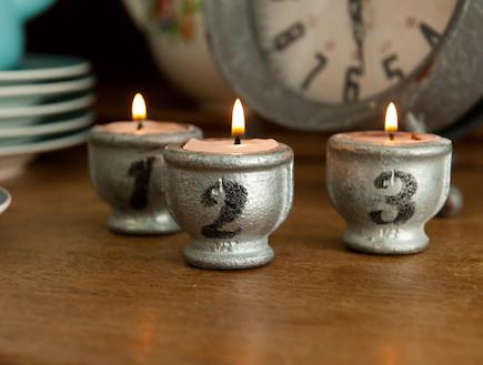נרות בביצים (צילום: דנה ישראלי)