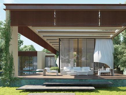 _do architectsבית פרטי (צילום: הדמיה: אנדו סטודיו)