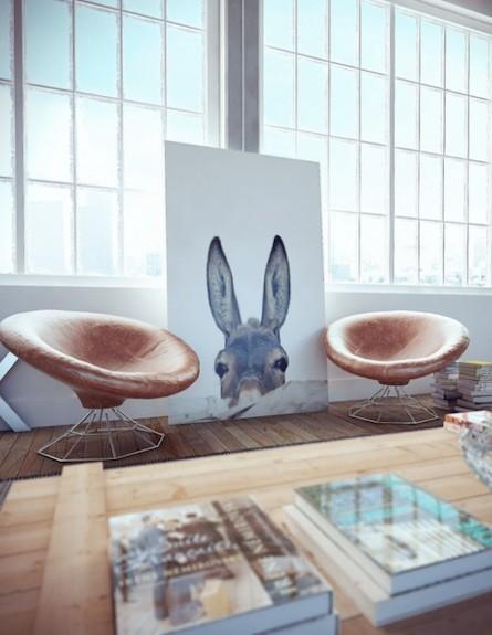 אנדו סטודיו-כיסאות2) (צילום: הדמיה: אנדו סטודיו)