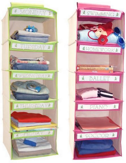מדפים ורודים ירוקיםr (צילום: מתוך האתר Joey & Jane Week Organize)