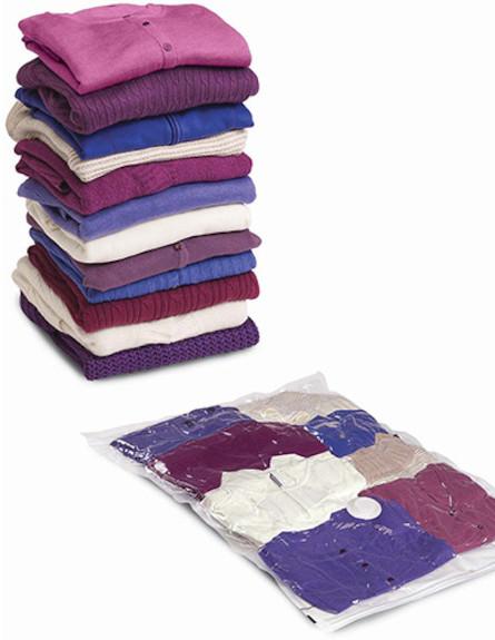 חולצות מקופלות (צילום: מתוך האתר spacebagbrand.com)