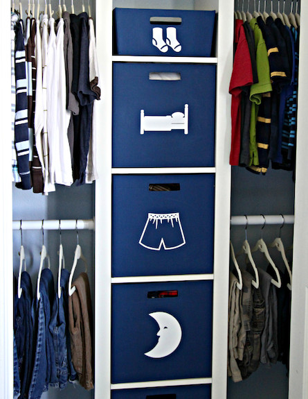 מגירות כחולות (צילום: מתוך האתר iheartorganizing)
