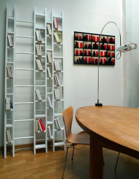 ספריית סולם (צילום: dec-hode-bookcase)