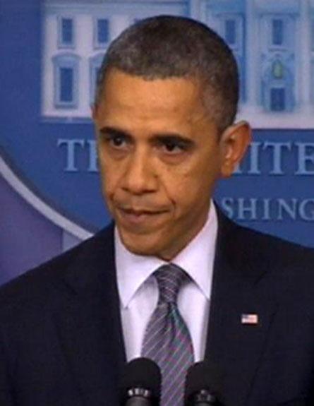 הנשיא אובמה לאחר הטבח, בסוף השבוע (צילום: Reuters)