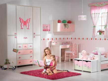עצמלה - חדר ילדים ורוד