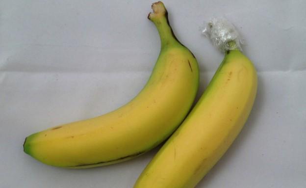 בננות עם כיסוי פלסטיק (צילום: gizmodo.com)